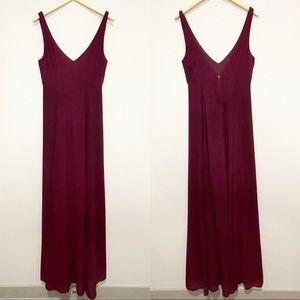 Show Me Your Mumu Jenn Maxi Dress Merlot Gown L